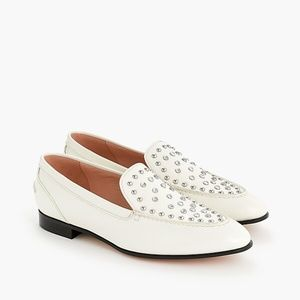 JCrew Academy loafers in studded leather